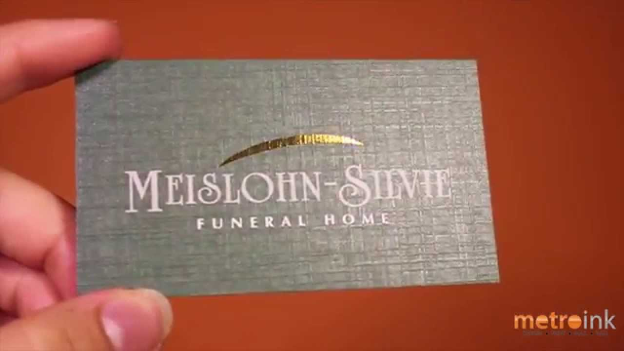 metal business cards nyc