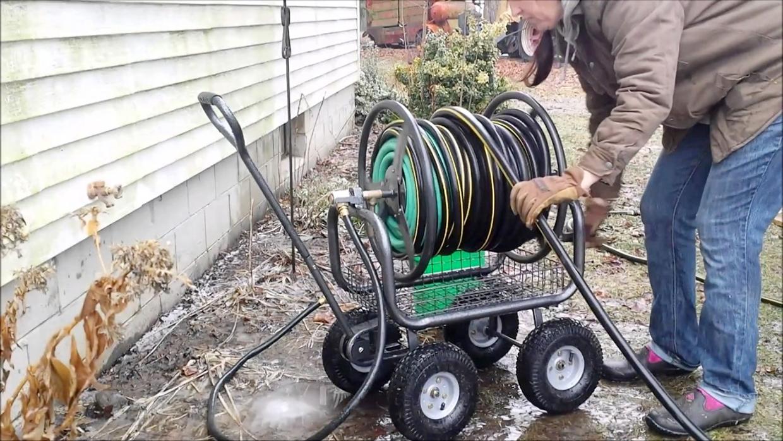 best garden hose reel cart