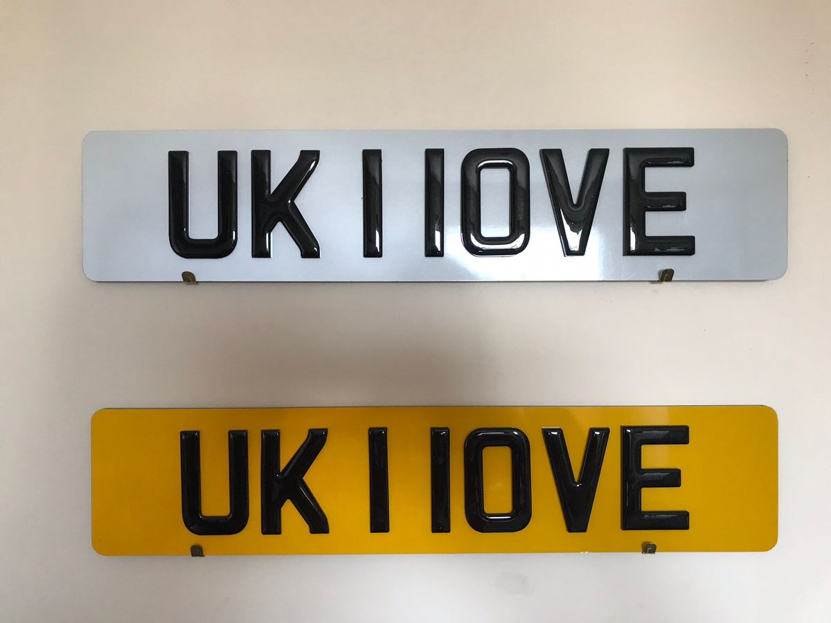 clear number plates